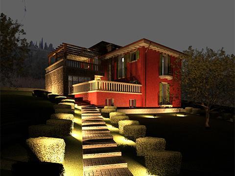 Progetto per la costruzione di una villetta unifamiliare in zona collinare sottoposta a vincolo paesaggistico - Sona