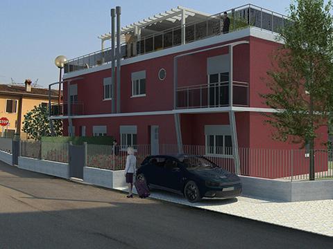 Costruzione di un edificio residenziale plurifamiliare - Pescantina (Vr)