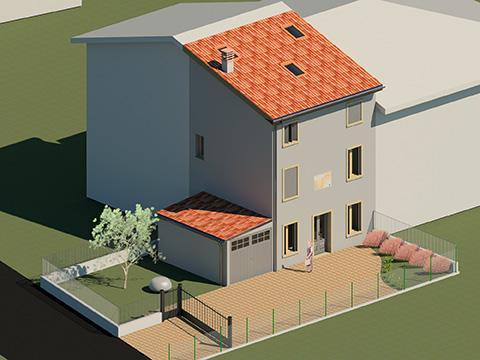 Ristrutturazione di un'abitazione in contesto residenziale - Villafranca di Verona (Vr)