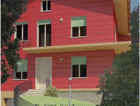 Ristrutturazione di un edificio residenziale sito nel centro storico del comune di Cavaion (VR) - Render